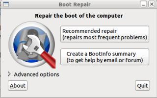Boot-repair, one click to repair!