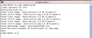 Updating Grub in CLI