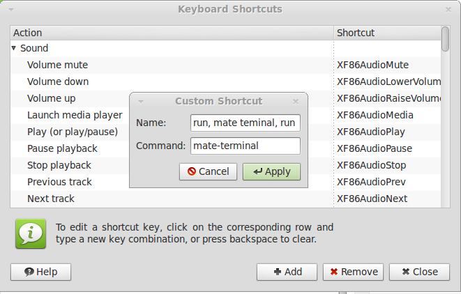 Keyboard shortcut for Terminal in linux Mint 13 (Mate) | Pest IT